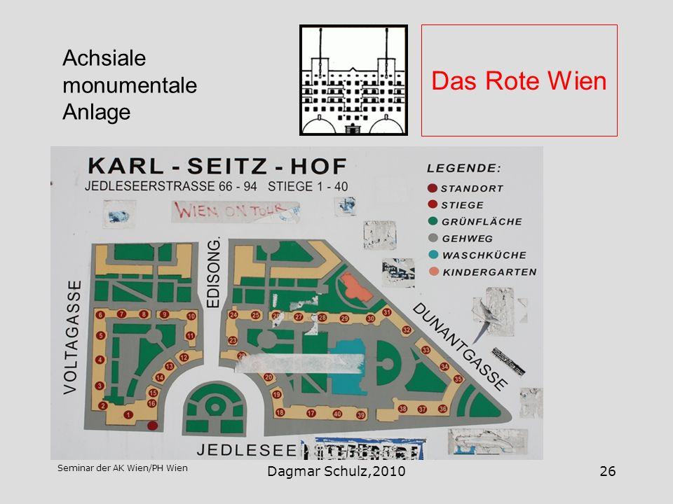 Seminar der AK Wien/PH Wien Dagmar Schulz,201026 Das Rote Wien Achsiale monumentale Anlage
