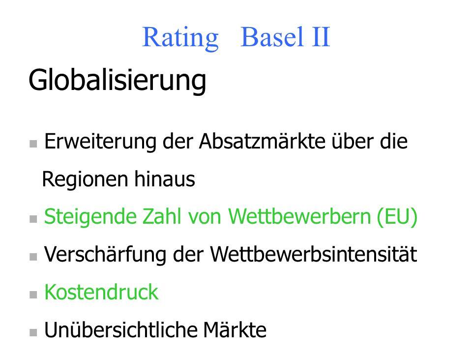 Rating Basel II Branchenanalyse Langfristige Zukunftsaussichten von Untern. Langfristige Entwicklungen der Volkswirtschaft Langfristige Entwicklung de