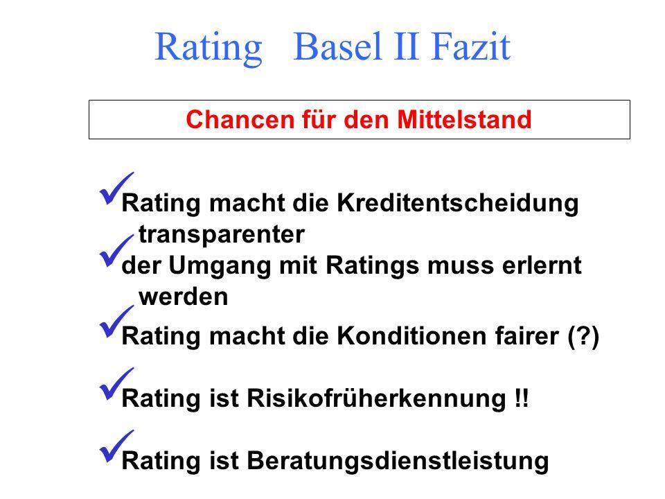 Bank SteuerberaterBankkunde Rating Basel II Zielsetzung Informationaustausch !!!!! Copyright bei Melanie Gansen