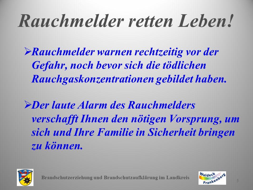 Brandschutzerziehung und Brandschutzaufklärung im Landkreis 16 Weitere Verhaltensregeln.