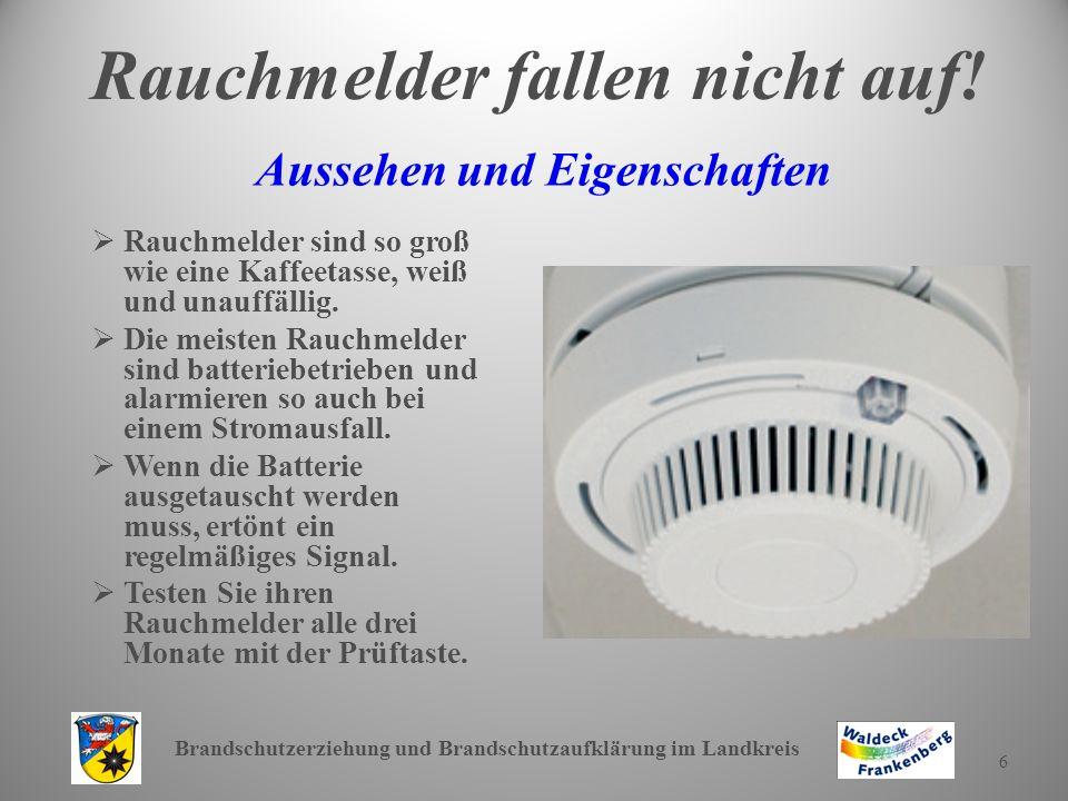 Brandschutzerziehung und Brandschutzaufklärung im Landkreis 7 Wo installiert man Rauchmelder.
