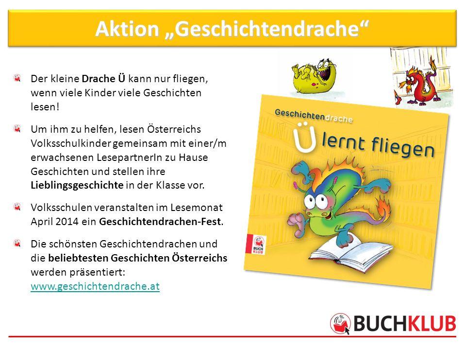 Der kleine Drache Ü kann nur fliegen, wenn viele Kinder viele Geschichten lesen! Um ihm zu helfen, lesen Österreichs Volksschulkinder gemeinsam mit ei