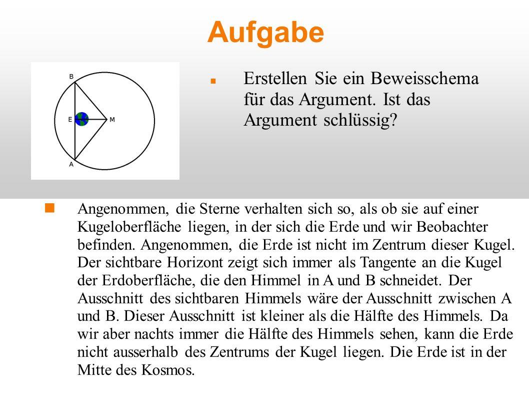 Lösung 1Horizont ist gegeben durch Tangente AB A1 2Sichtbarer Winkel des Horizonts ist der Winkel an M A2 3Die Strecke EM ist deutlich grösser als 0, d.h.