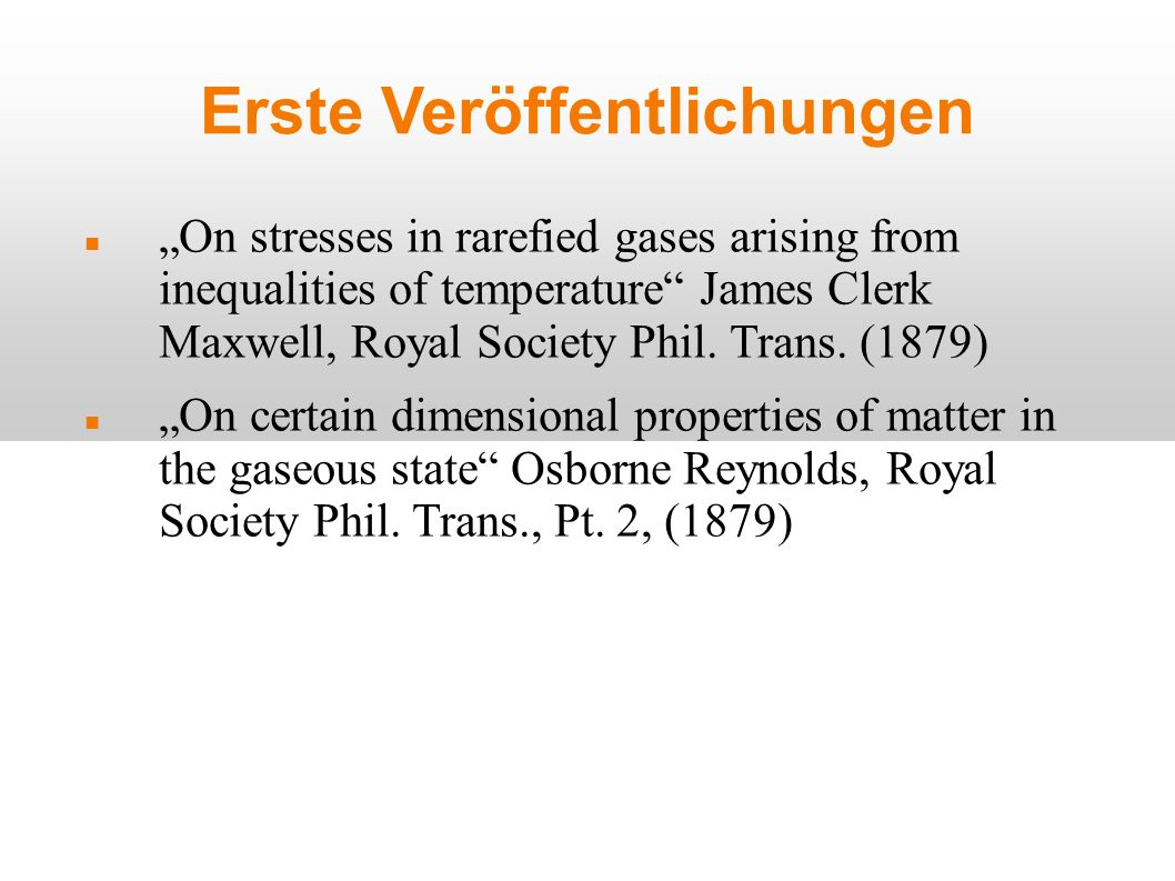 Falsche Erklärungen II Einige halten die Erklärung durch erhöhten Gasdruck auf der warmen Seite auch für falsch.