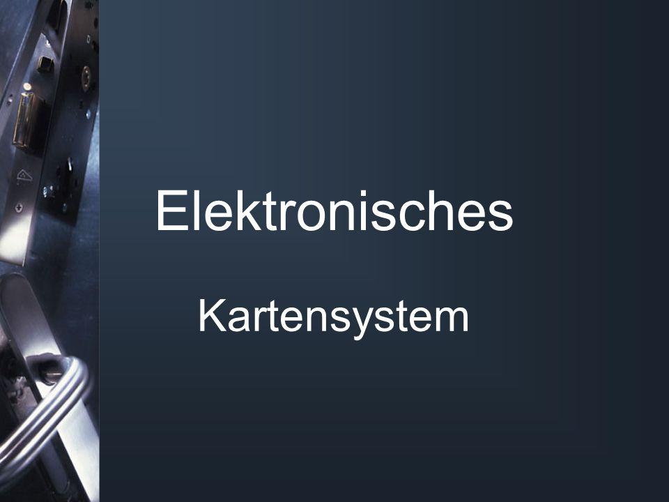Elektronisches Kartensystem