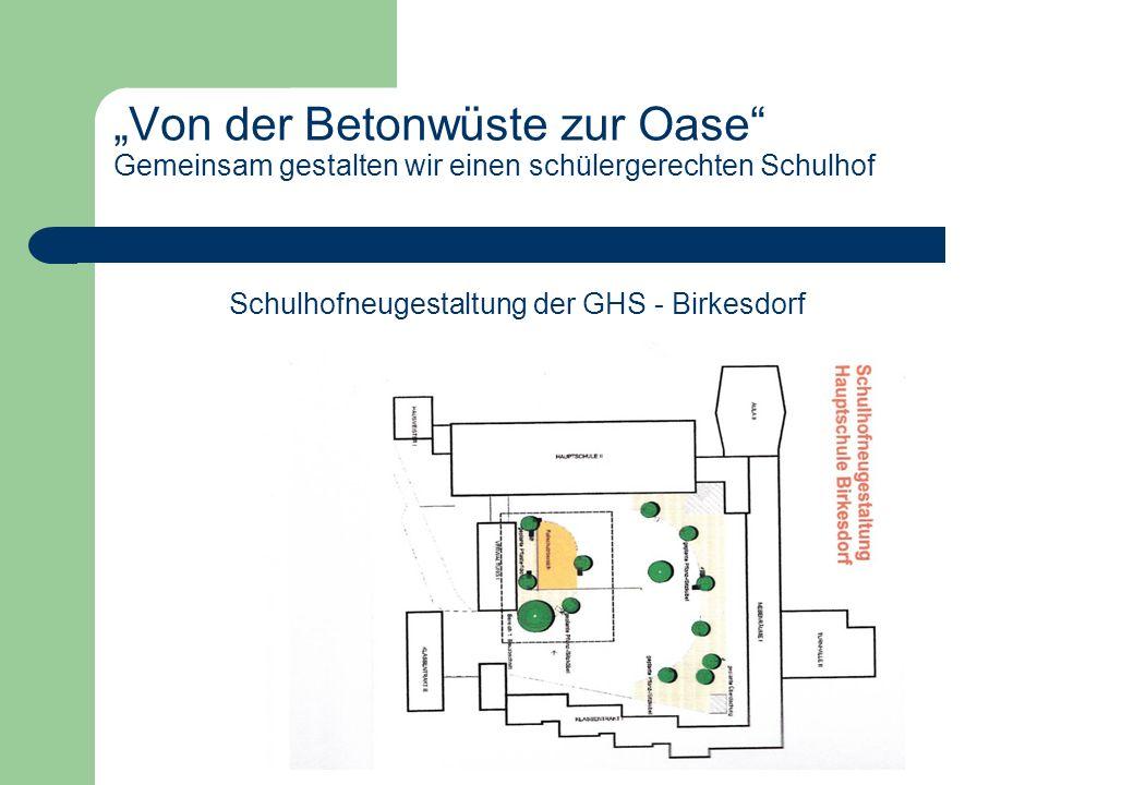 Schulhofneugestaltung der GHS - Birkesdorf