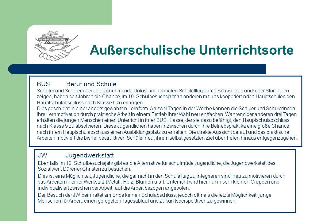 Berufswahlorientierungskonzept Praxisorientierte Berufswahlvorbereitung in Zusammenarbeit mit dem Sozialwerk Dürener Christen