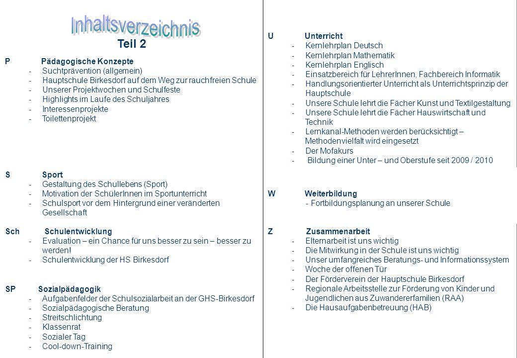Teil 2 U Unterricht - Kernlehrplan Deutsch - Kernlehrplan Mathematik - Kernlehrplan Englisch - Einsatzbereich für LehrerInnen, Fachbereich Informatik