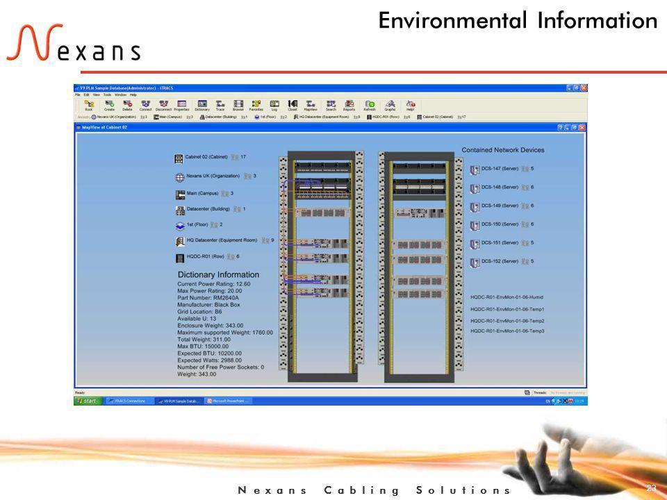 23 N e x a n s C a b l i n g S o l u t i o n s Environmental Information