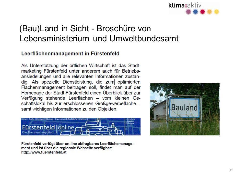 42 (Bau)Land in Sicht - Broschüre von Lebensministerium und Umweltbundesamt