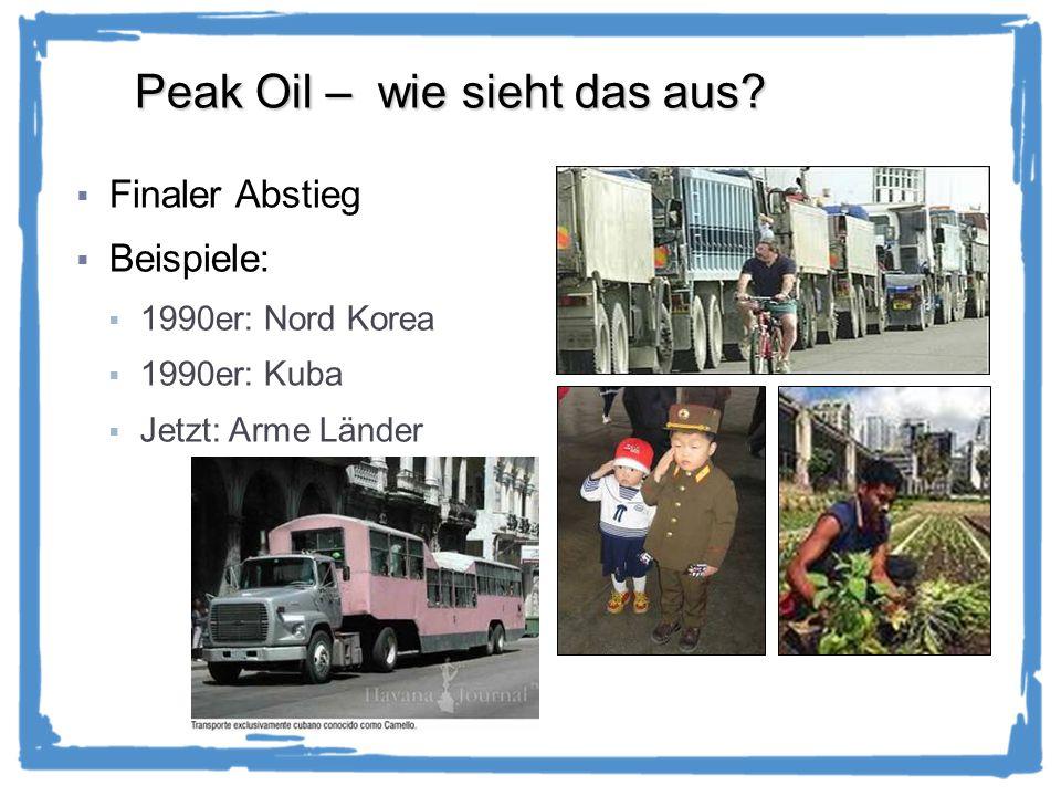Peak Oil – wie sieht das aus.