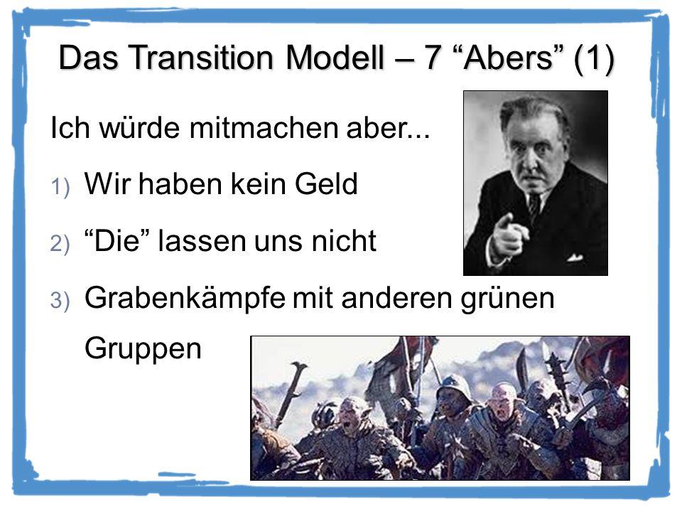 Das Transition Modell – 7 Abers (1) Ich würde mitmachen aber...