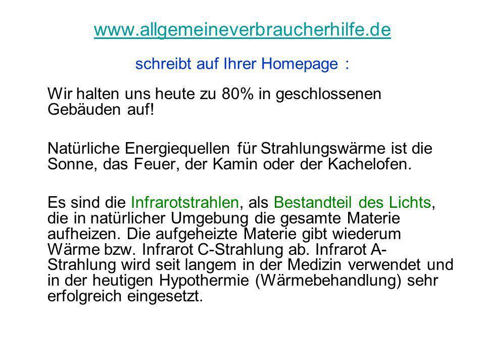 www.allgemeineverbraucherhilfe.de www.allgemeineverbraucherhilfe.de schreibt auf Ihrer Homepage : Wir halten uns heute zu 80% in geschlossenen Gebäude
