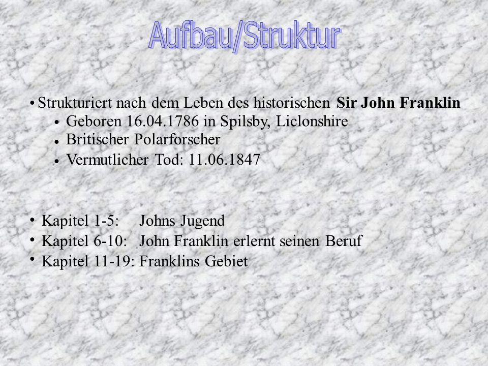 Strukturiert nach dem Leben des historischen Sir John Franklin Geboren 16.04.1786 in Spilsby, Liclonshire Britischer Polarforscher Vermutlicher Tod: 1