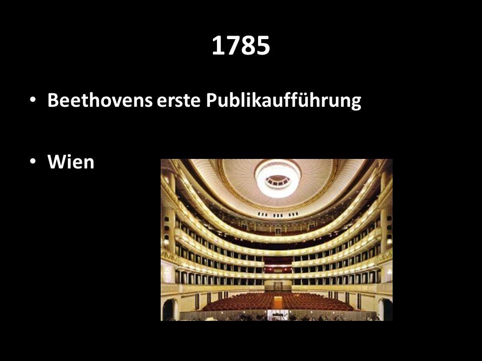 1785 Beethovens erste Publikaufführung Wien