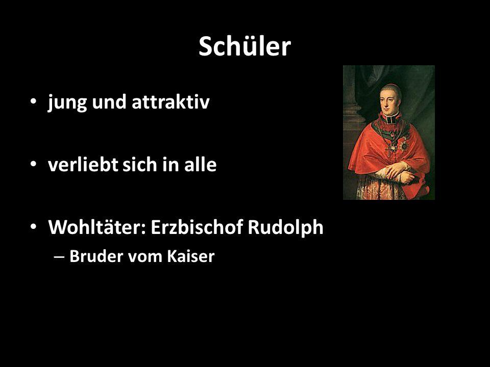 Schüler jung und attraktiv verliebt sich in alle Wohltäter: Erzbischof Rudolph – Bruder vom Kaiser