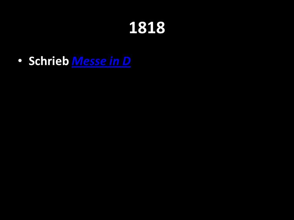 1818 Schrieb Messe in DMesse in D