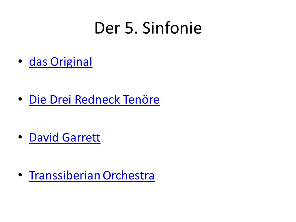 Der 5. Sinfonie das Original Die Drei Redneck Tenöre David Garrett Transsiberian Orchestra