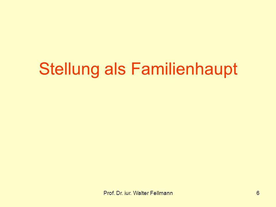 Prof. Dr. iur. Walter Fellmann6 Stellung als Familienhaupt