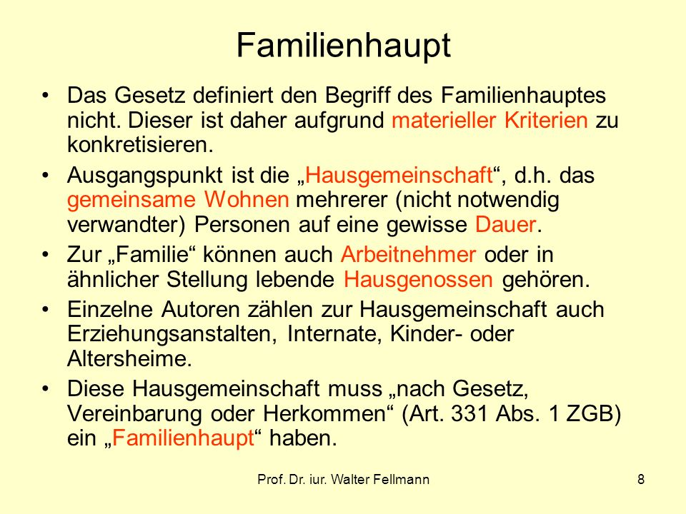 Prof.Dr. iur. Walter Fellmann29 Art.