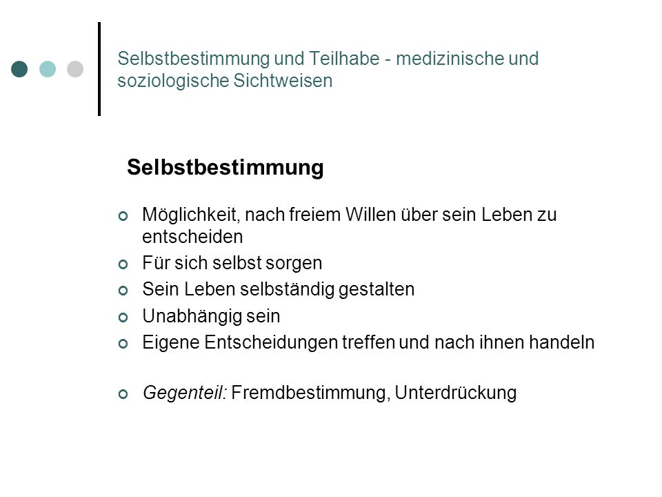 Selbstbestimmung Ausschnitt der UN-Behindertenrechtskonvention in Leichter Sprache (Screenshot der Internetseite des Deutschen Instituts für Menschenrechte)