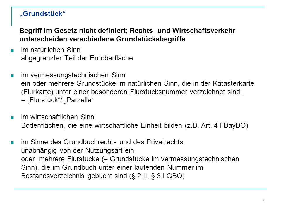 18 3.3.6 Abteilung II enthält alle eintragungs- fähigen Lasten und Beschrän- kungen des Grundstücks (z.B.
