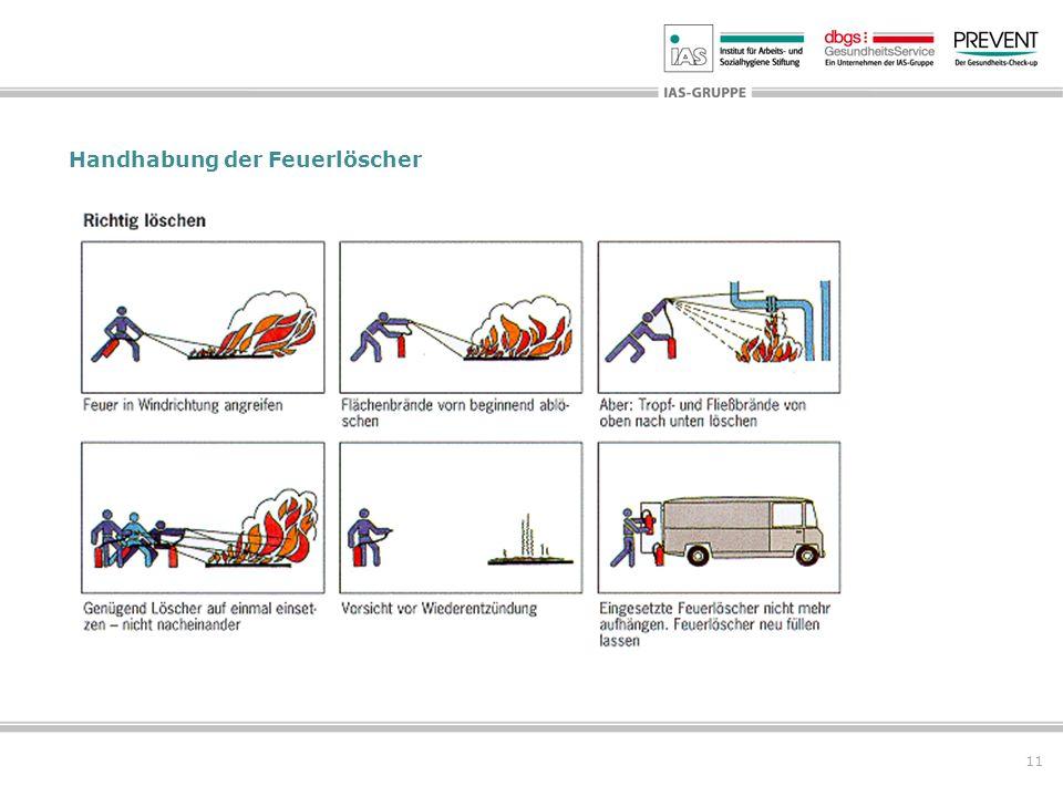 11 Handhabung der Feuerlöscher