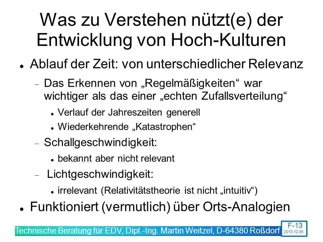 Technische Beratung für EDV, Dipl.-Ing.