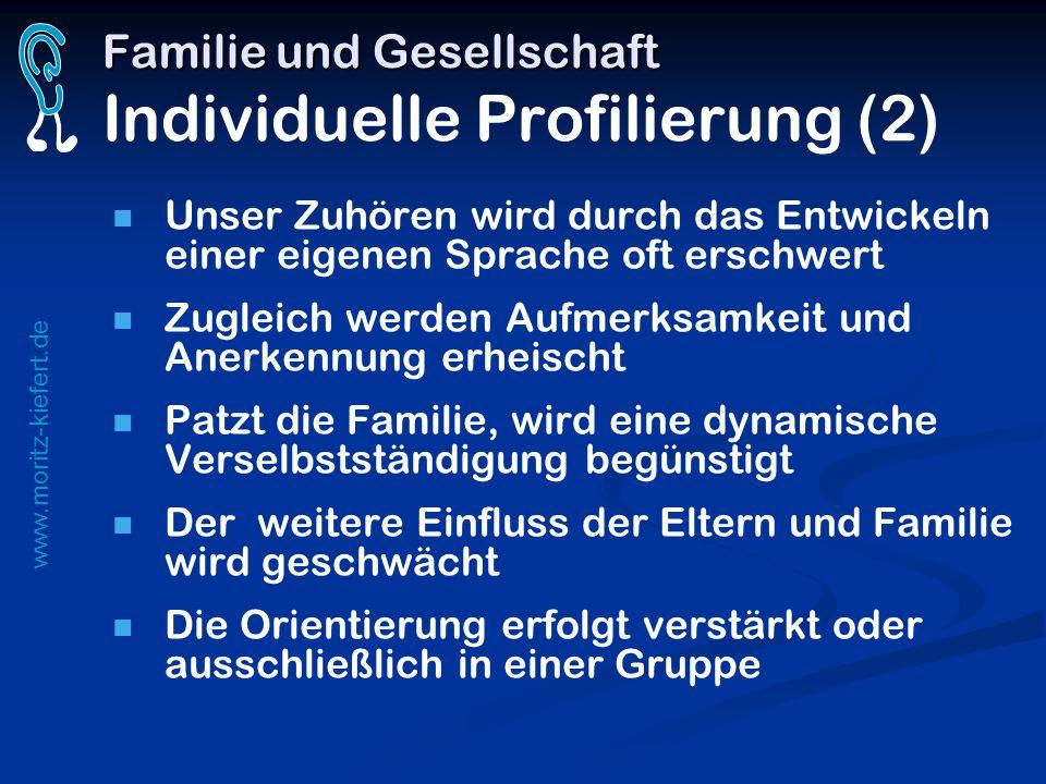 www.moritz-kiefert.de Familie und Gesellschaft Familie und Gesellschaft Individuelle Profilierung (2) Unser Zuhören wird durch das Entwickeln einer ei