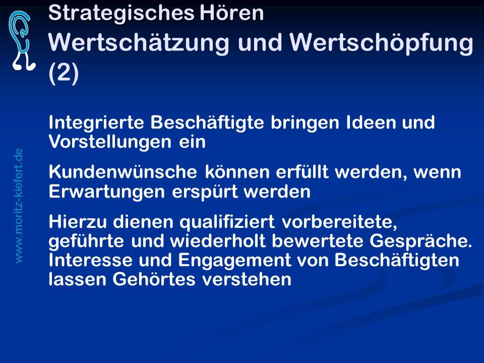 www.moritz-kiefert.de Integrierte Beschäftigte bringen Ideen und Vorstellungen ein Kundenwünsche können erfüllt werden, wenn Erwartungen erspürt werde