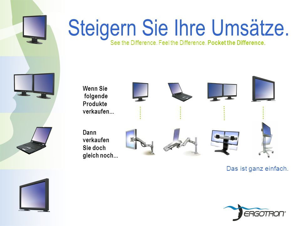 Steigern Sie Ihre Umsätze. See the Difference. Feel the Difference.
