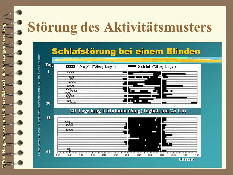 © Prof. Haug; nur zum persönlichen Gebrauch als Vorlesungsvorbereitung Störung des Aktivitätsmusters