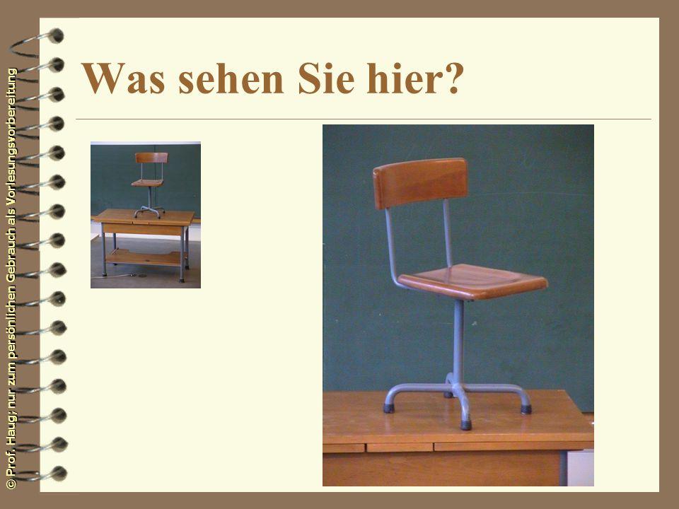 © Prof. Haug; nur zum persönlichen Gebrauch als Vorlesungsvorbereitung Was sehen Sie hier?