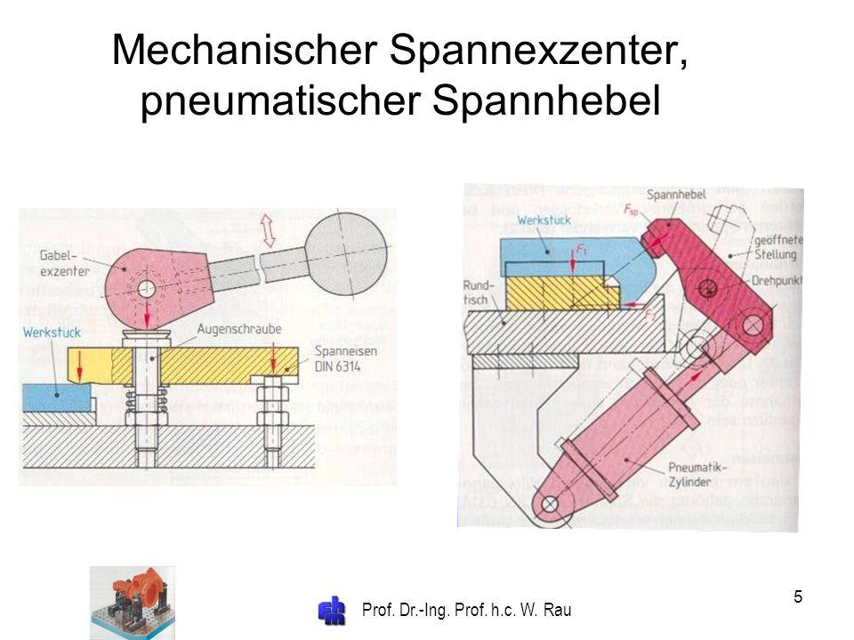 Prof. Dr.-Ing. Prof. h.c. W. Rau 5 Mechanischer Spannexzenter, pneumatischer Spannhebel