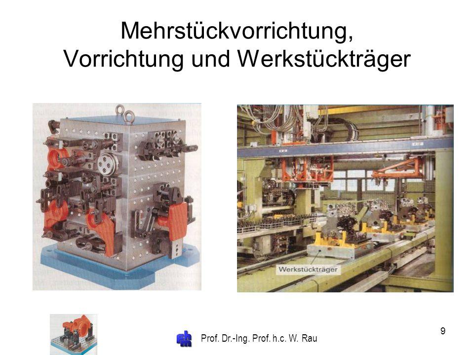 Prof. Dr.-Ing. Prof. h.c. W. Rau 9 Mehrstückvorrichtung, Vorrichtung und Werkstückträger