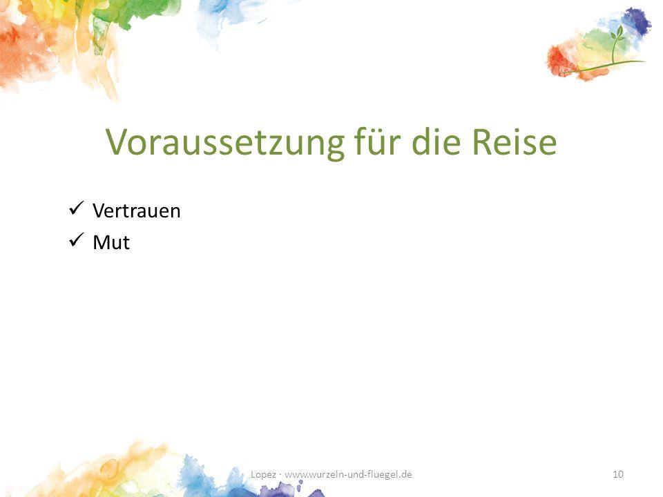 Voraussetzung für die Reise Vertrauen Mut Lopez · www.wurzeln-und-fluegel.de10