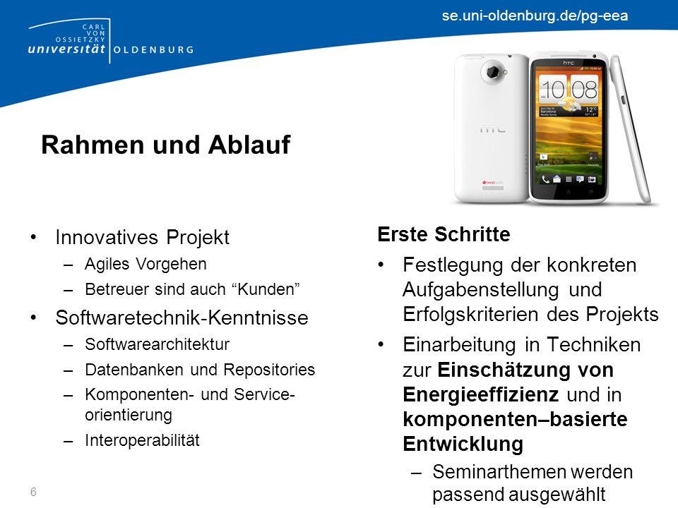 se.uni-oldenburg.de/pg-eea Perks & Prospects Praktische Software– technik-Erfahrung Kaffee (und andere Getränke...).