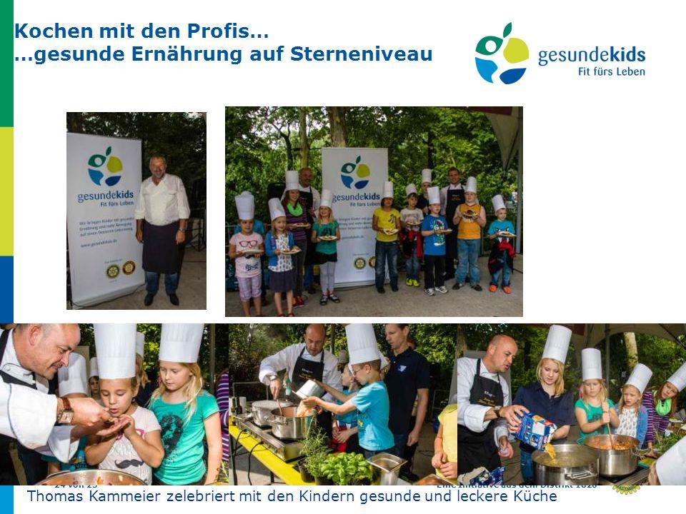24 von 25Eine Initiative aus dem Distrikt 1820 Kochen mit den Profis… …gesunde Ernährung auf Sterneniveau Thomas Kammeier zelebriert mit den Kindern g
