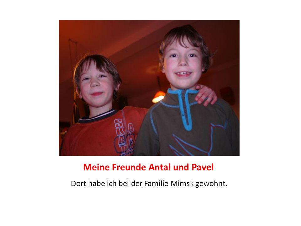 Meine Freunde Antal und Pavel Dort habe ich bei der Familie Mimsk gewohnt.