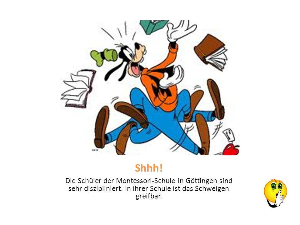 Shhh. Die Schüler der Montessori-Schule in Göttingen sind sehr diszipliniert.