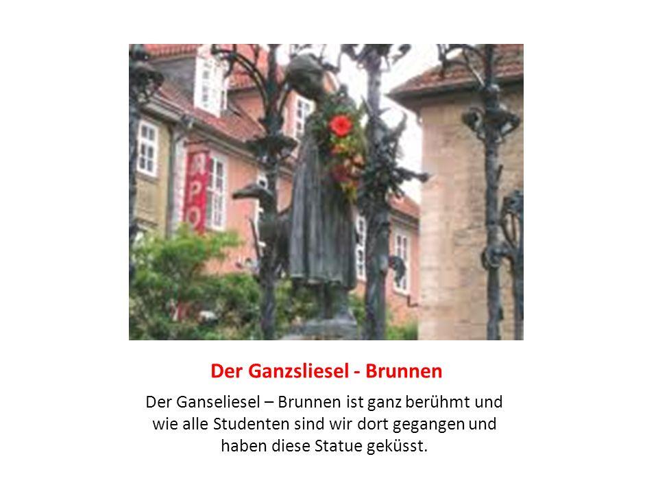 Der Ganzsliesel - Brunnen Der Ganseliesel – Brunnen ist ganz berühmt und wie alle Studenten sind wir dort gegangen und haben diese Statue geküsst.