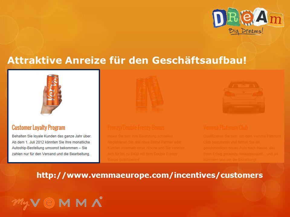 Attraktive Anreize für unseren Geschäftsaufbau! http://www.vemmaeurope.com/incentives