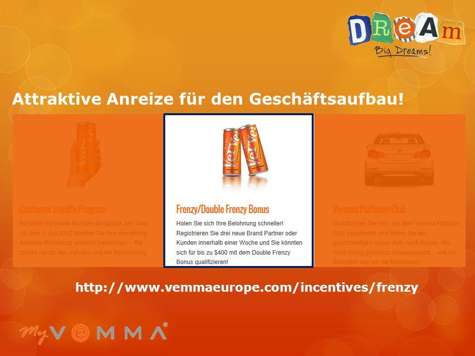 Attraktive Anreize für den Geschäftsaufbau! http://www.vemmaeurope.com/incentives/customers