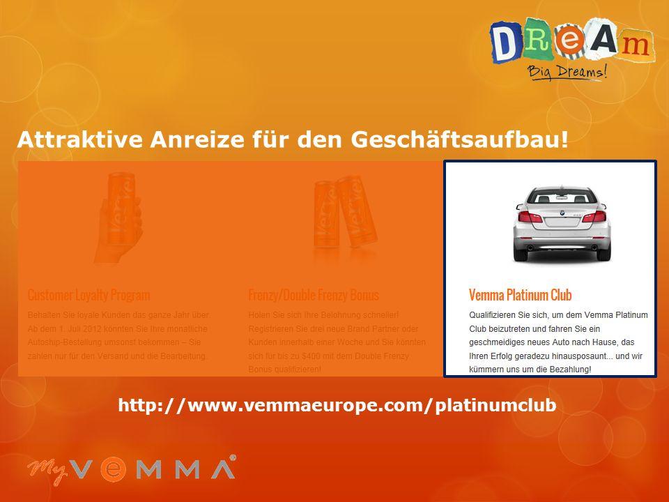 Attraktive Anreize für den Geschäftsaufbau! http://www.vemmaeurope.com/incentives/frenzy