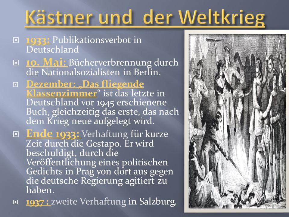 1933: Publikationsverbot in Deutschland 10.