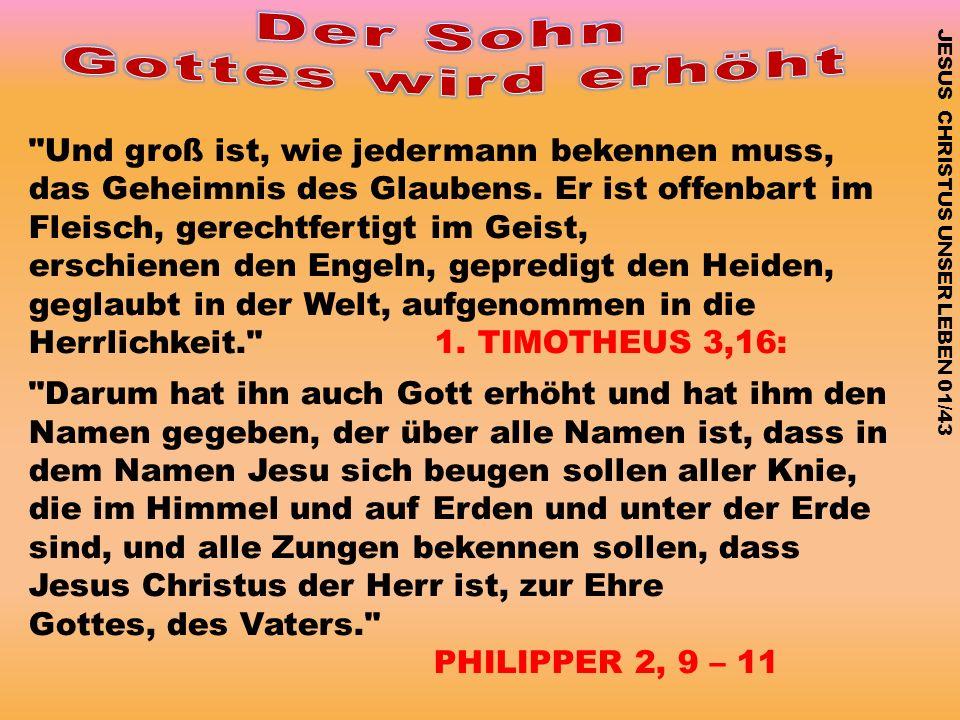 JESUS CHRISTUS UNSER LEBEN 01/43