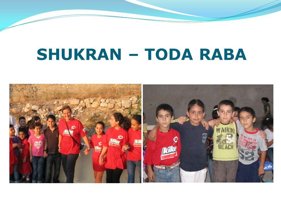 SHUKRAN – TODA RABA