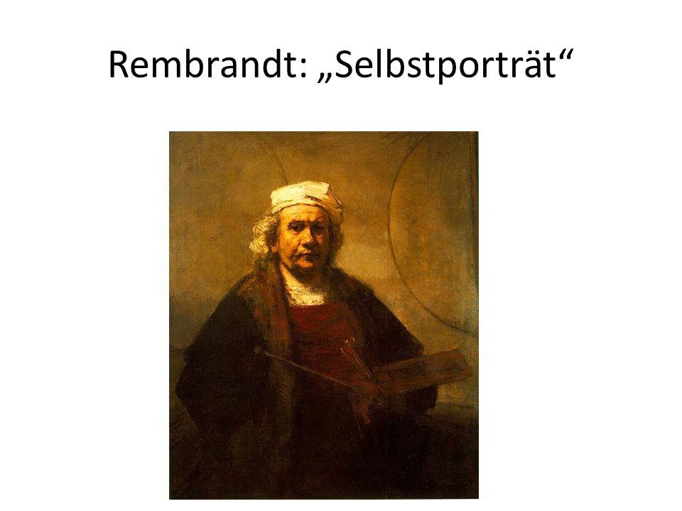 Rembrandt: Selbstporträt