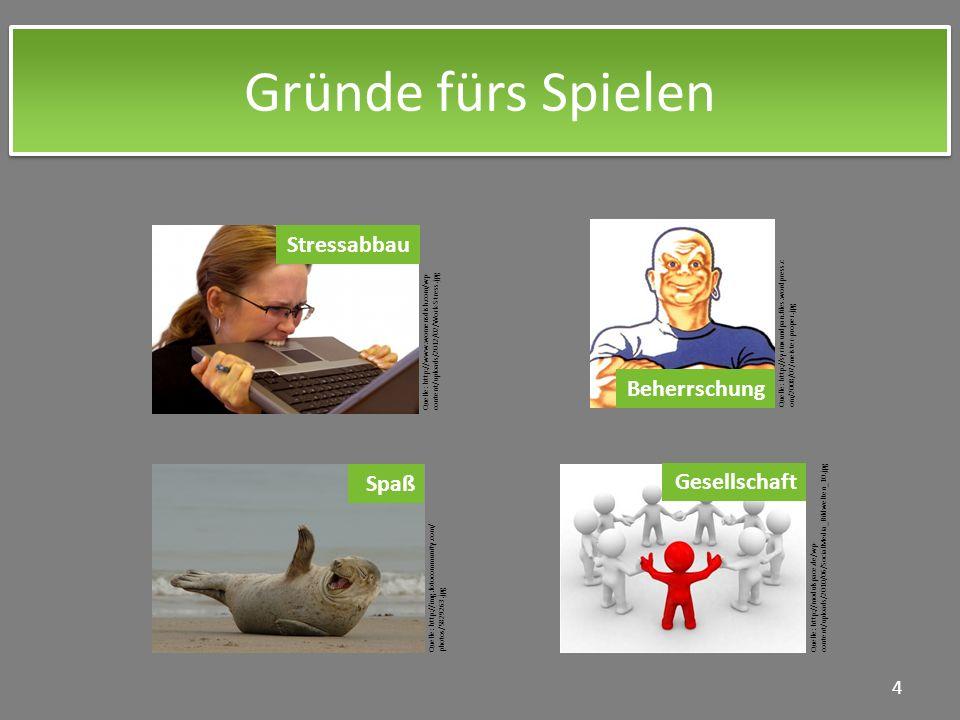 Gründe fürs Spielen 4 Quelle: http://modulspace.de/wp- content/uploads/2010/06/SocialMedia_Bildwelten_10.jpg Quelle: http://www.womensdish.com/wp- con