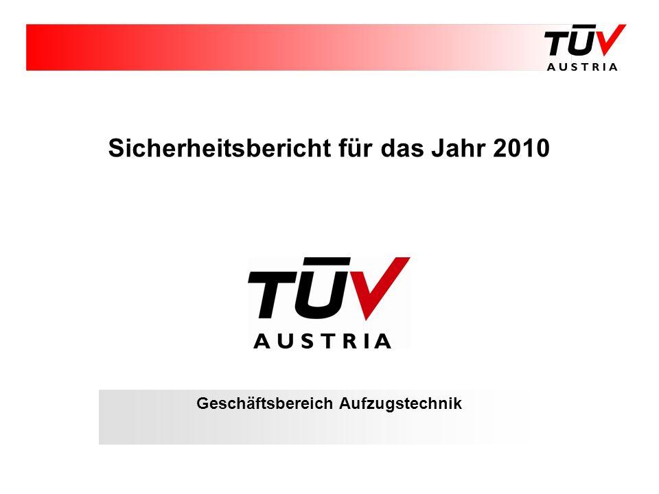 Sicherheitsbericht für das Jahr 2010 Geschäftsbereich Aufzugstechnik